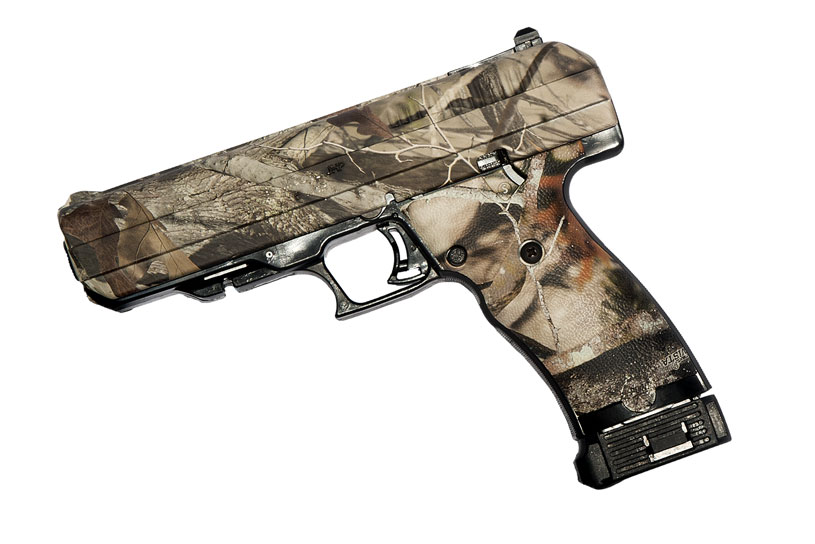 Hi-Point Firearms 45ACP handgun woodland camo Model JHP 45 Camo WC
